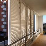 Parapetto per balcone e brise soleil in alluminio