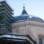 Cerchiatura in acciaio inox cupola San Bernardino L'Aquila