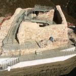 Scala in ferro realizzata presso Castello di Mevale – Visso