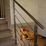Parapetto per scala in  acciaio inox