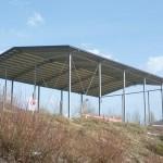 Struttura in ferro e copertura con lamiere collaboranti