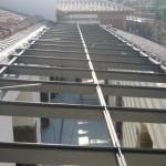 Struttura per alloggio vetrate