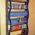 Libreria in ferro e vetro