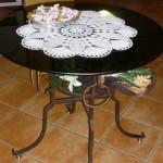 Tavolo in ferro e vetro