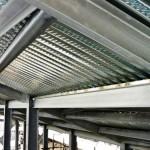 Struttura in ferro zincato e lamiere collaboranti