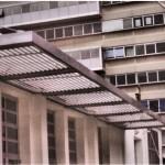 Pensilina in ferro realizzata presso l'università degli studi Roma 3