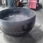 Fase lavorativa per realizzazione sfera metallica