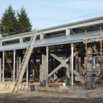 Struttura in ferro zincato e copertura con lamiere collaboranti