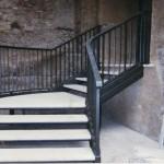 Scala in ferro e gradini in marmo realizzata presso il campidoglio – RM -