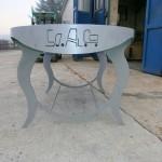 Particolare tavolo in ferro