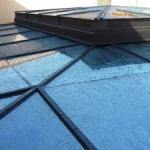 copertura in ferro, alluminio e vetri temperati